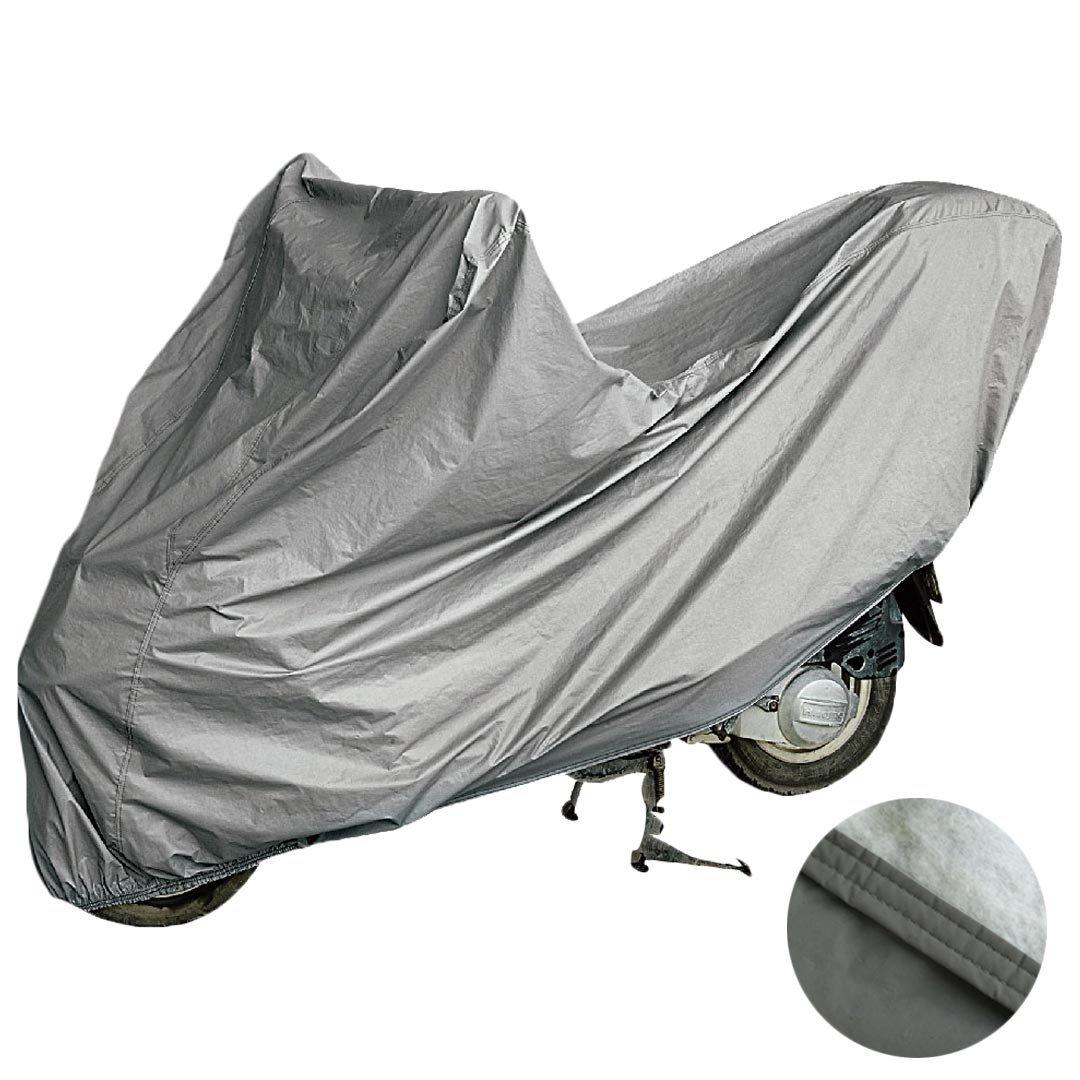Telo coprimoto felpato sagomato in materiale impermeabile al 100% doppia cucitura ed elastico alle estremità per scooter e moto di varie misure (XL) Lupex Shop