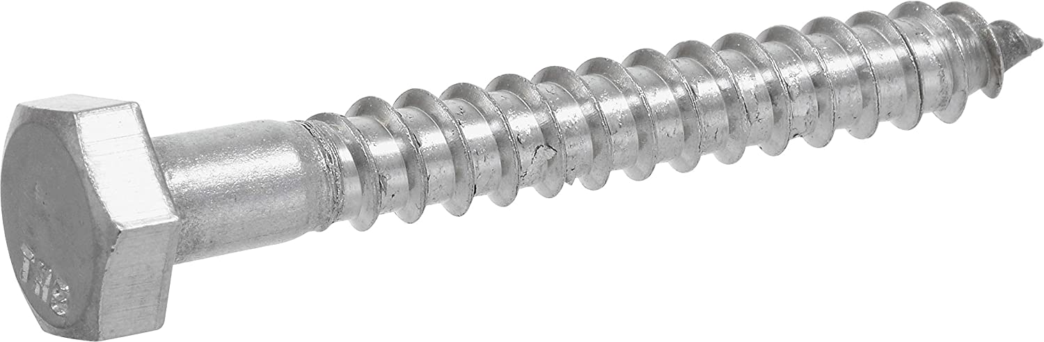 25-Pack The Hillman Group 832088 1//2 x 5-Inch Stainless Steel Hex Lag Screw