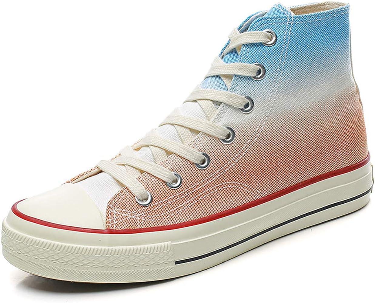 JUNMAONO Hombres Zapatos de Lona Arcoiris Transpirable Zapatos de Malla Altas Zapatos Deportivos Estudiante Zapatos para Correr Tabla Baja Ayuda Zapatillas Inferiores Suaves Zapatillas De Running: Amazon.es: Ropa y accesorios