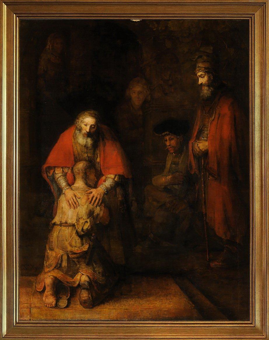 Berkin Arts Rahmen Rembrandt Harmenszoon Van Rijn Giclée Leinwand Prints Gemälde Poster Reproduktion(Die Rückkehr des verlorenen Sohnes)