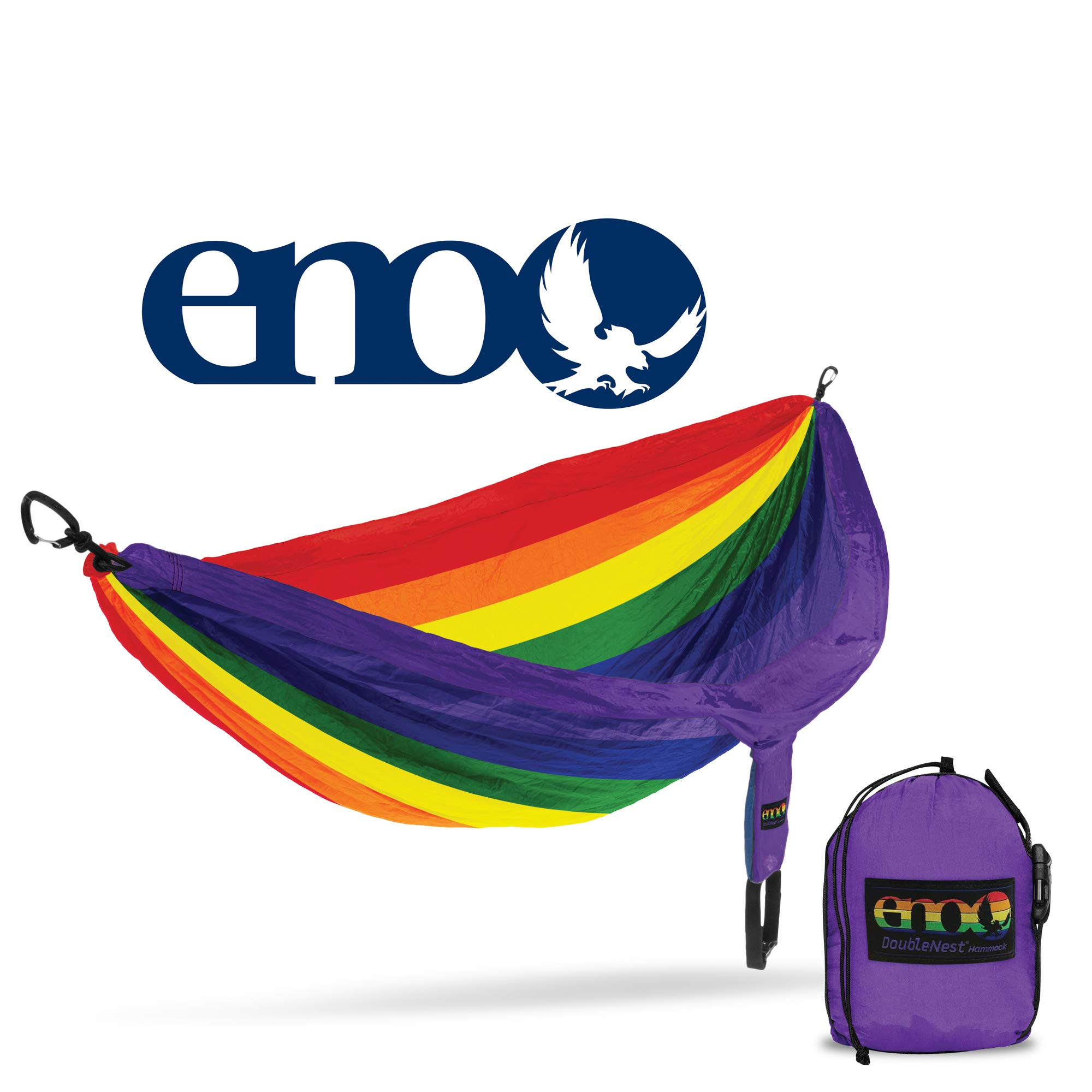 ENO - Eagles Nest Outfitters DoubleNest Hammock, Portable Hammock for Two, Special Edition Colors, Prism Pride by ENO