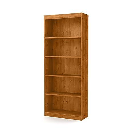 South Shore Axess 5 Shelf Bookcase, Country Pine