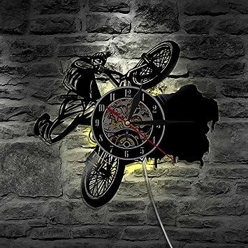Lyy BMX Bicicletas Deportes Bicicleta LED Vinilo Reloj Iluminación ...