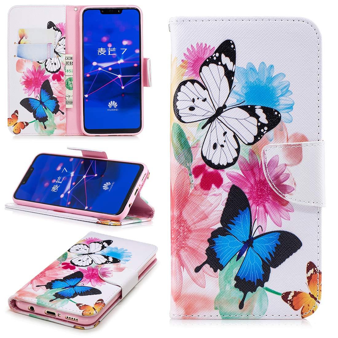 Lyzwn Custodia Huawei Mate 20 Lite Cases Flip in Pelle PU Cuoio Copertura Case Cover con Wallet Portafoglio Supporto Carte Chiusura Magnetica Caso Copertina per Huawei Mate 20 Lite