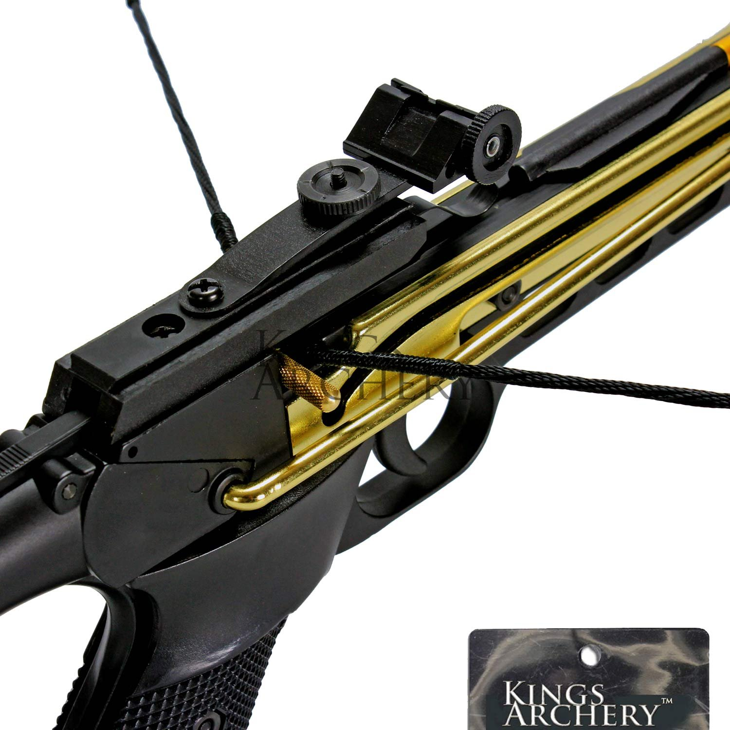 Crossbow Self-Cocking 80 LBS by KingsArchery® with Hunting Scope, 3 Aluminium Arrow Bolts, and Bonus 120-pack of Colored PVC Arrow Bolts + KingsArchery® Warranty by KingsArchery (Image #8)