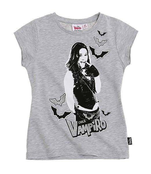Chica Vampiro Chicas Camiseta manga corta - Gris - 116