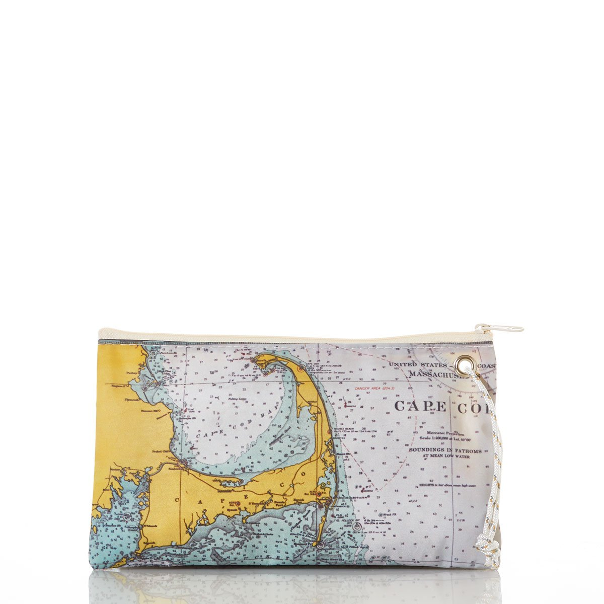 Sea Bags Recycled Sail Cloth Cape Cod Nautical Chart Wristlet Large