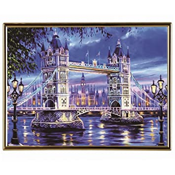 MXJSUA DIY 5D Diamond Painting by Number Kits Full Round Drill Rhinestone Embroidery Cross Stitch Picture Art Craft Home Wall Decor Titanic 12x16In