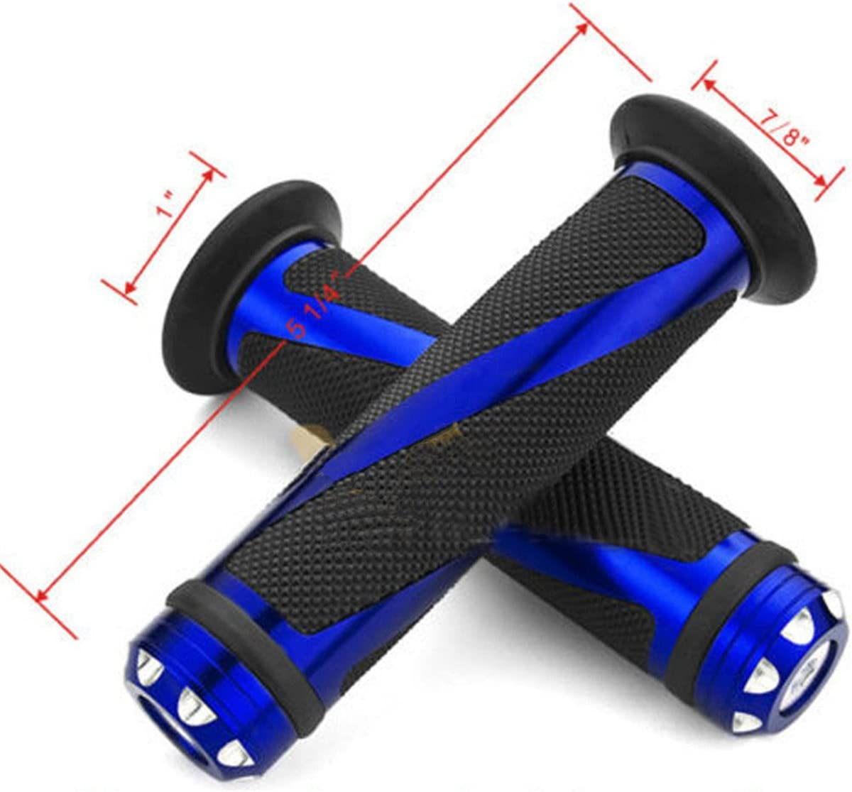 N//A ATTEEN 7//8 Aluminum Rubber Motorcycle Handlebar Grips Gel 22mm Hand Grips for Sports Motorcycle Bike
