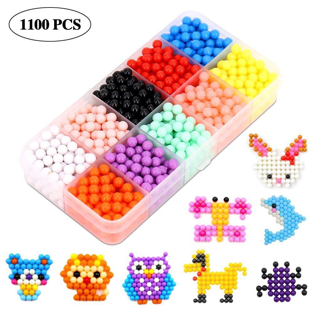 1000//3000Pcs Kids Toys Aqua Refill Pack Water Fuse Beads DIY Craft