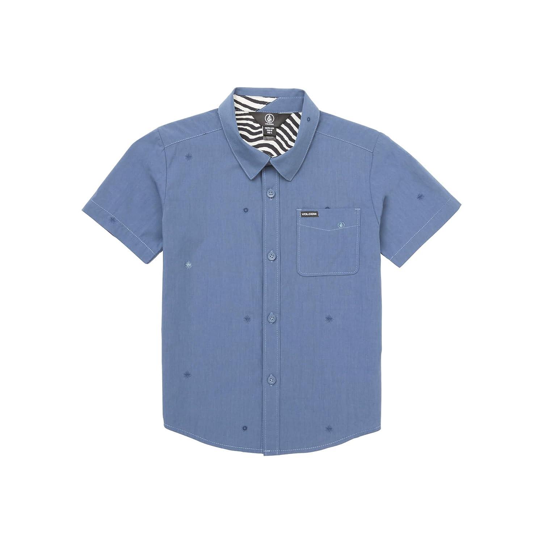 Volcom Niños Y0421800 Manga Corta Camisa de Botones - Azul - 3 ...