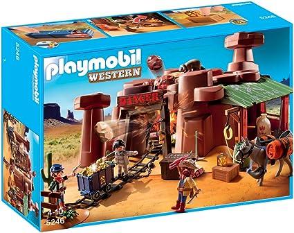Amazon.com: Playmobil Western Goldmine: Toys & Games
