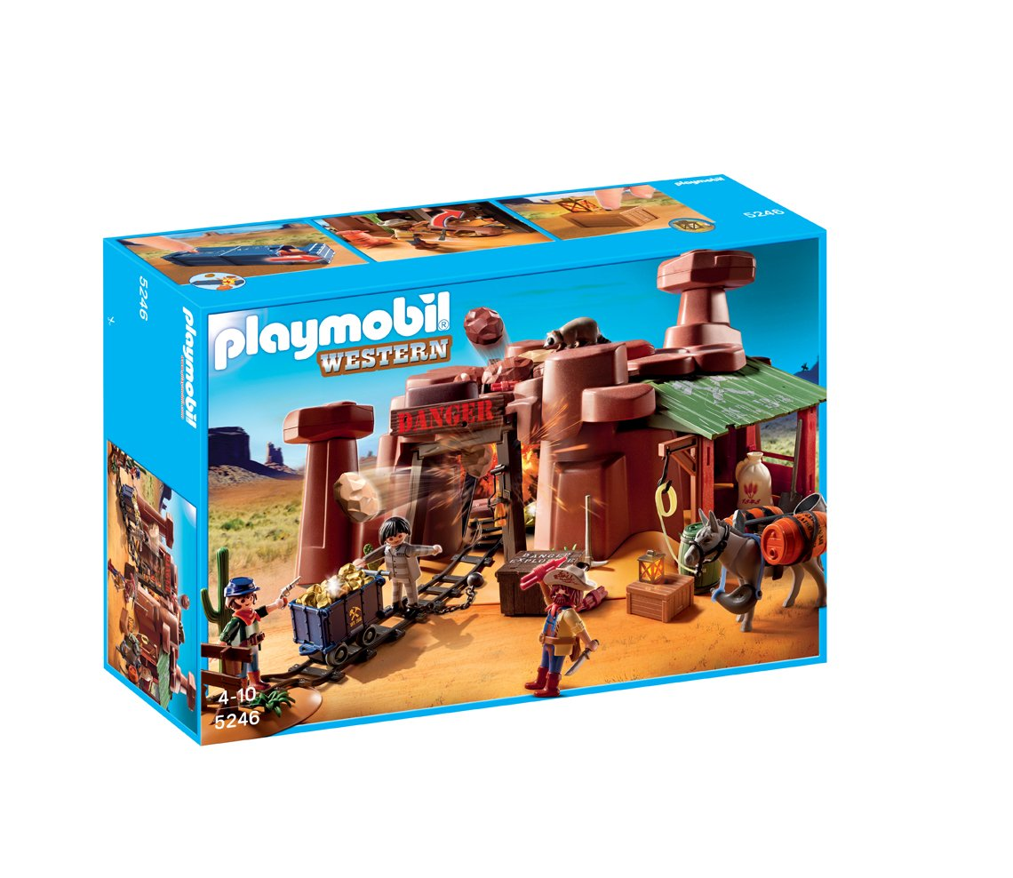 playmobil 5246 jeu de construction mine d 39 or avec. Black Bedroom Furniture Sets. Home Design Ideas