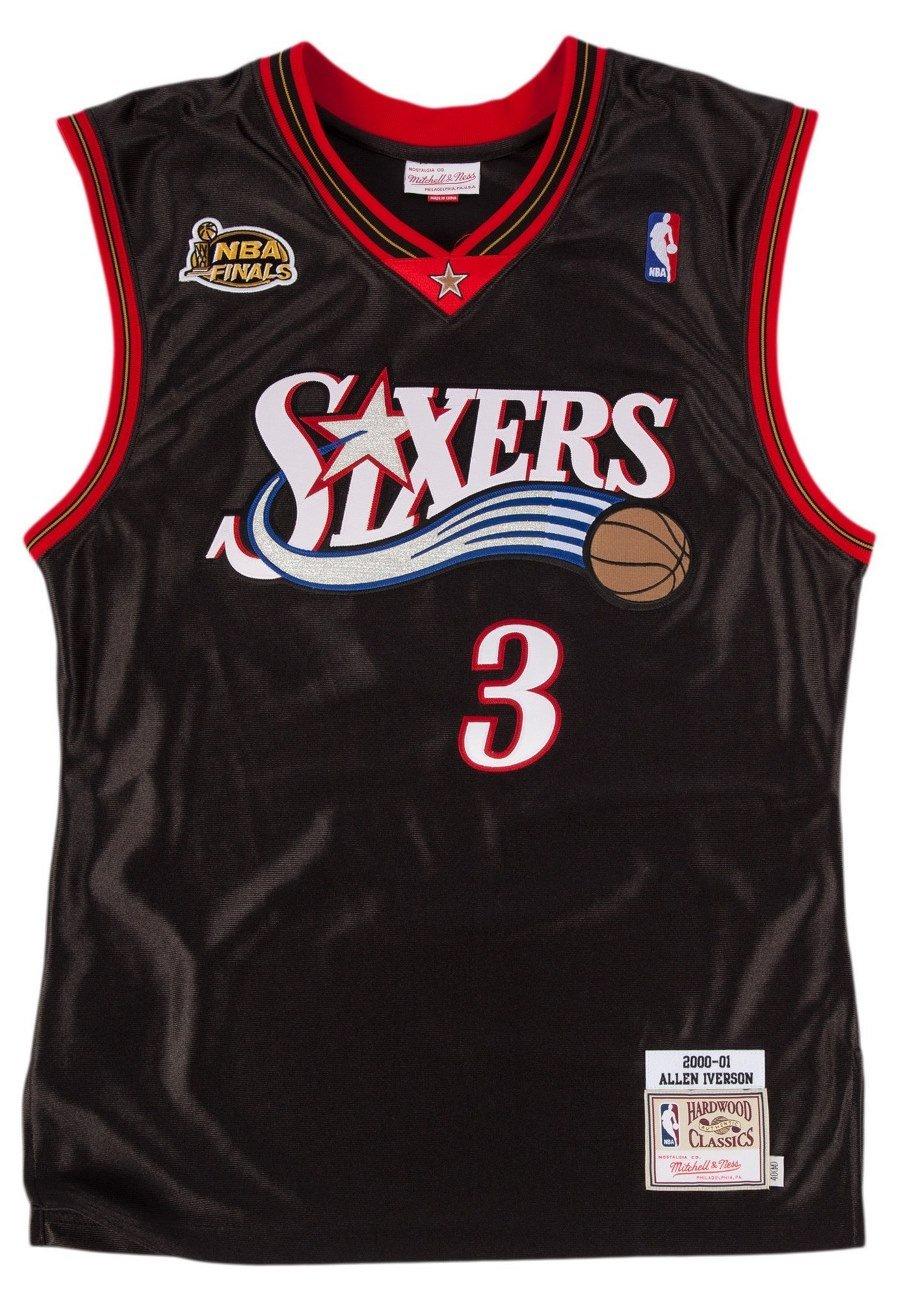57634c31fe1 Amazon.com   Allen Iverson 1996-97 Philadelphia 76ers Mitchell   Ness  Authentic Jersey Men s (48)   Sports   Outdoors
