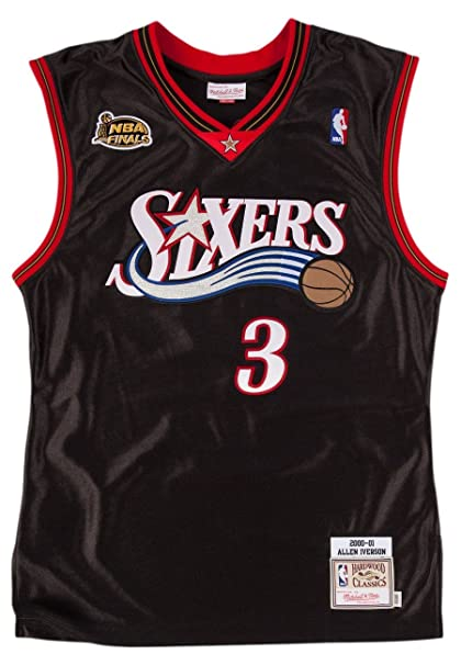 7744be53153 Allen Iverson 1996-97 Philadelphia 76ers Mitchell & Ness Authentic Jersey  Men's ...