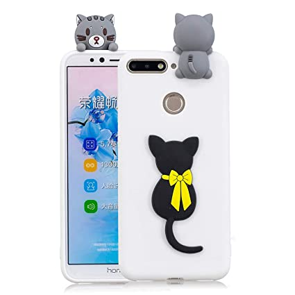 3D Cartoon Animal Case for Huawei Y6 2018,Yobby Huawei Honor 7A Cute Kawaii Pattern Case Slim Soft Flexible Rubber Silicone Shockproof Protective Back ...