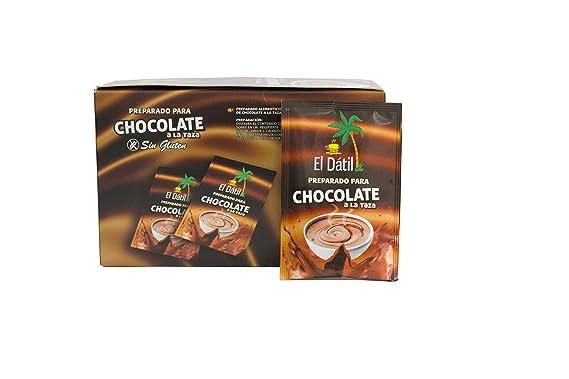 Chocolate a la taza El Dátil sin Glúten estuche de 25 sobres de 30gram: Amazon.es: Alimentación y bebidas