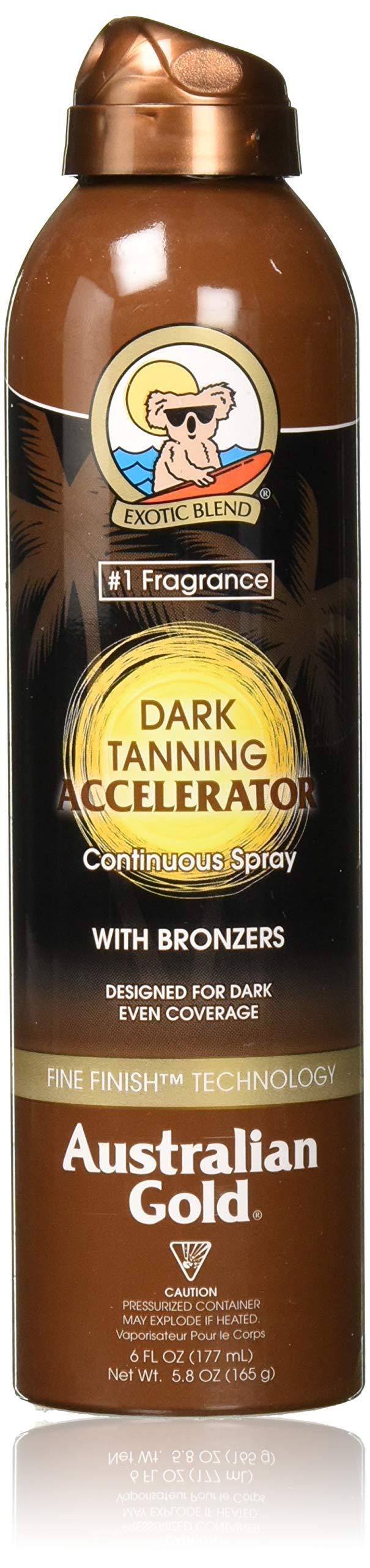 Australian Gold Dark Tanning Accelerator Continuous Spray Bronzer | 6 Ounce, multicolor (0054402260487)