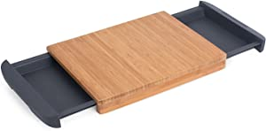 Internet's Best Bamboo Cutting Board with Removable Drawer - Prep Storage - Chopping Slicing Wood Block Kitchen Board