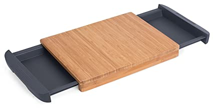 Internetu0027s Best Bamboo Cutting Board With Removable Drawer | Prep Storage |  Chopping Slicing Wood Block