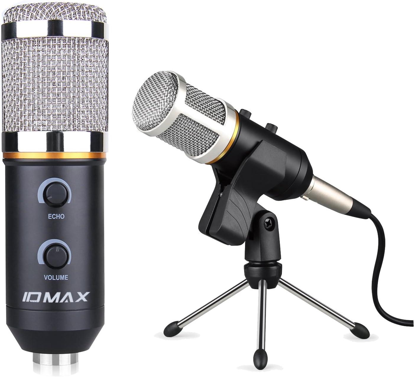PC micrófono, ID Max profesional micrófono de condensador USB 3,5 ...