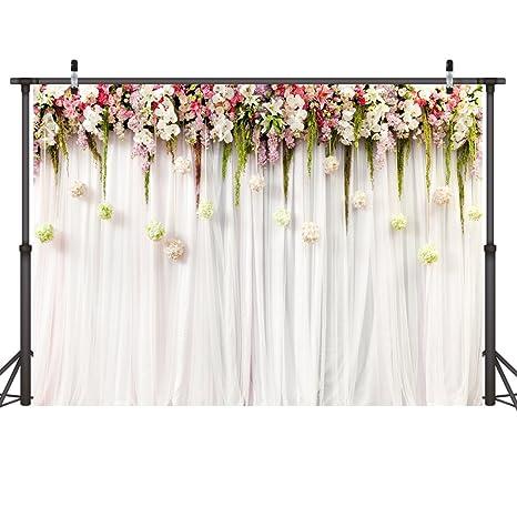 amazon com lywygg 7x5ft wedding backdrops white photography