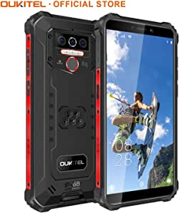 OUKITEL WP5 Rugged Cell Phone IP68Waterproof/Dustproof/Shockproof 8000mAh Smartphone Android 10.0 Mobile Phone 4GBRAM+32GBROM SONY13MP+5MP Dual AI Camera Face or Fingerprint Unlock One Year Warranty