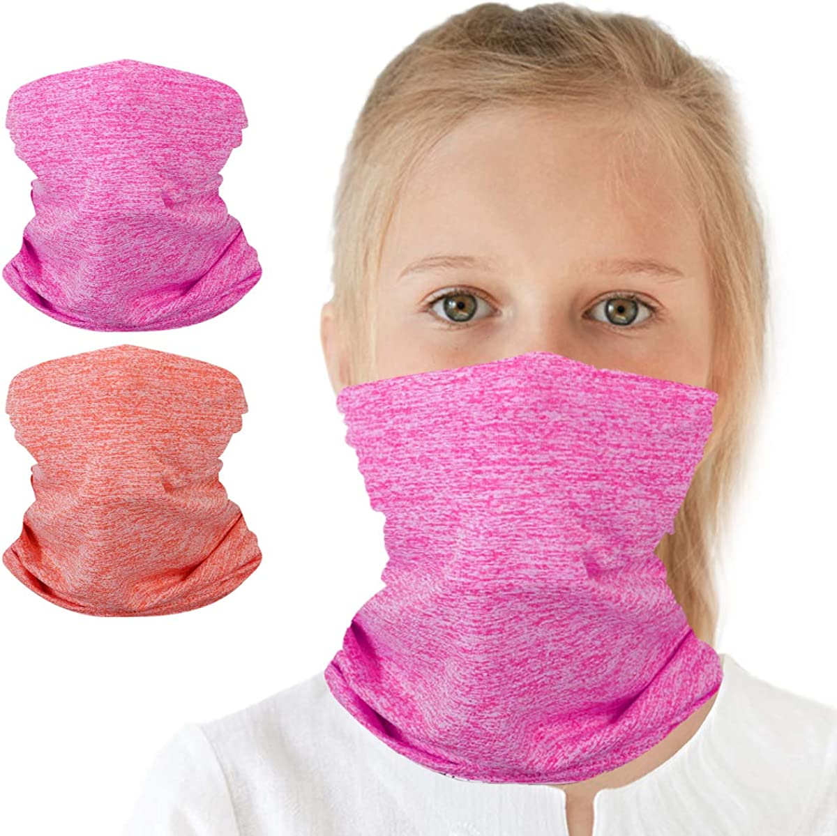 6-14 Years Olds Kids UV Protection Face Cover Neck Gaiter for Hot Summer Cycling Hiking Sport Outdoor