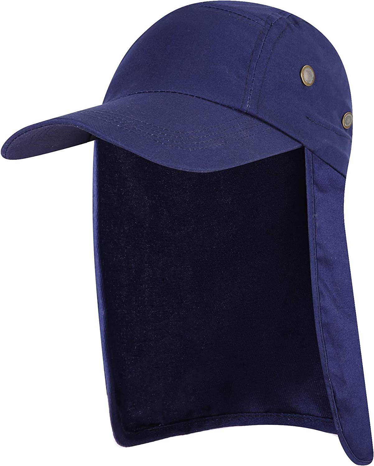 YR.Lover Fishing Flap Hat Women Men Sun Cap with Ear and Neck Flap for Camping, Hiking and Fishing ect