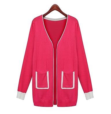 DaBag Maglione Rosso Sweater Moda Maglioni Larghe Eleganti