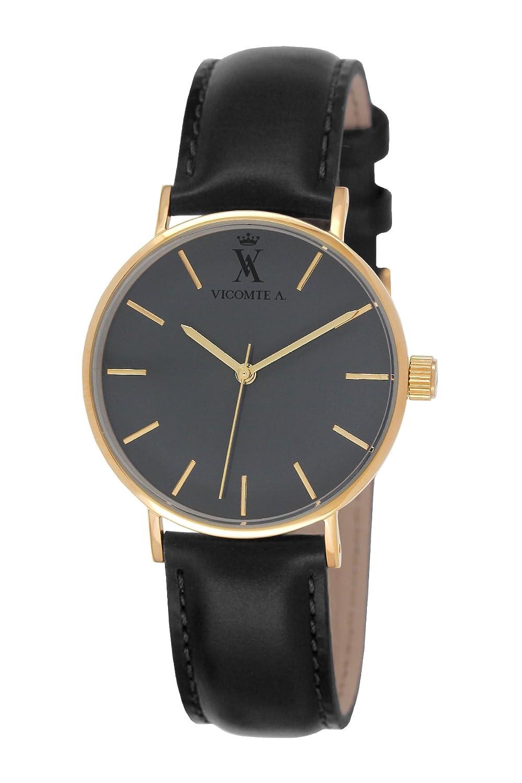 Vicomte A. Herren-Armbanduhr Analog Quarz Leder VA 020-1CA