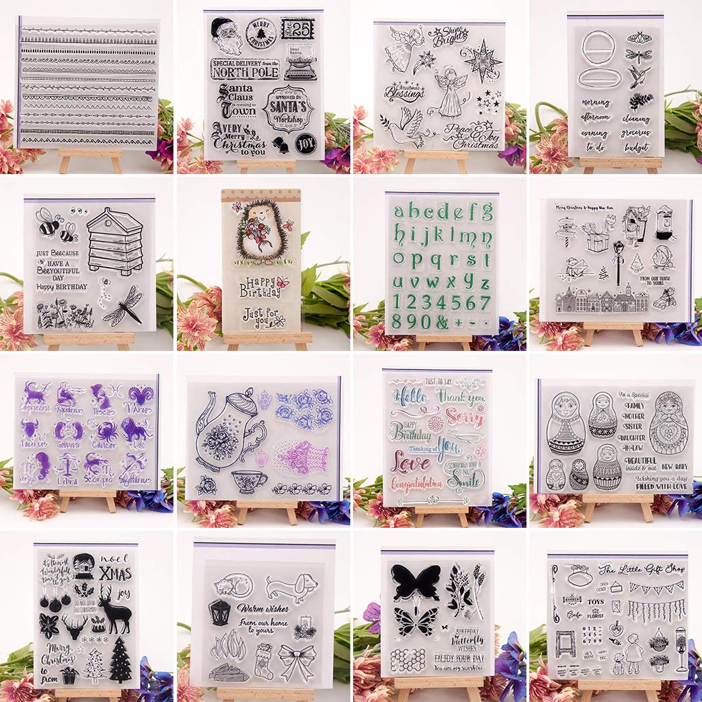 BouT Silikon-Stempel f/ür Album 1 St/ück Fotokarten Scrapbooking