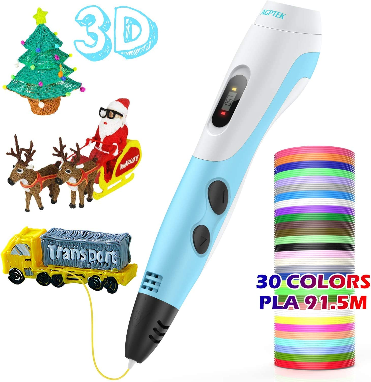 AGPTEK Pluma de Impresión 3D para Niños, Lapiz 3D Compatible ABS ...