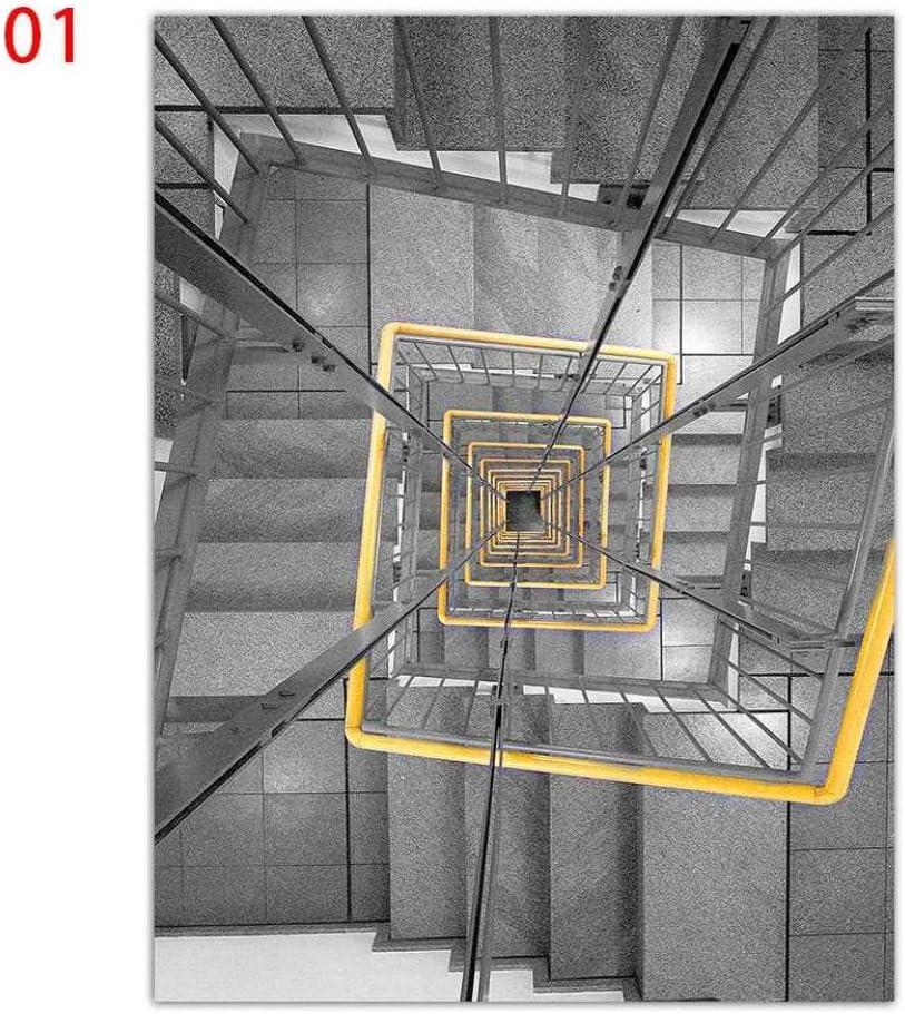 XIXISA Escalera de Caracol Arte de la Pared Impresiones Pintura Lienzo Impreso Pintura Decoración de la Pared Imágenes para la Sala de Estar Decoración del hogar/Sin Marco / 50x70cm: Amazon.es: Hogar