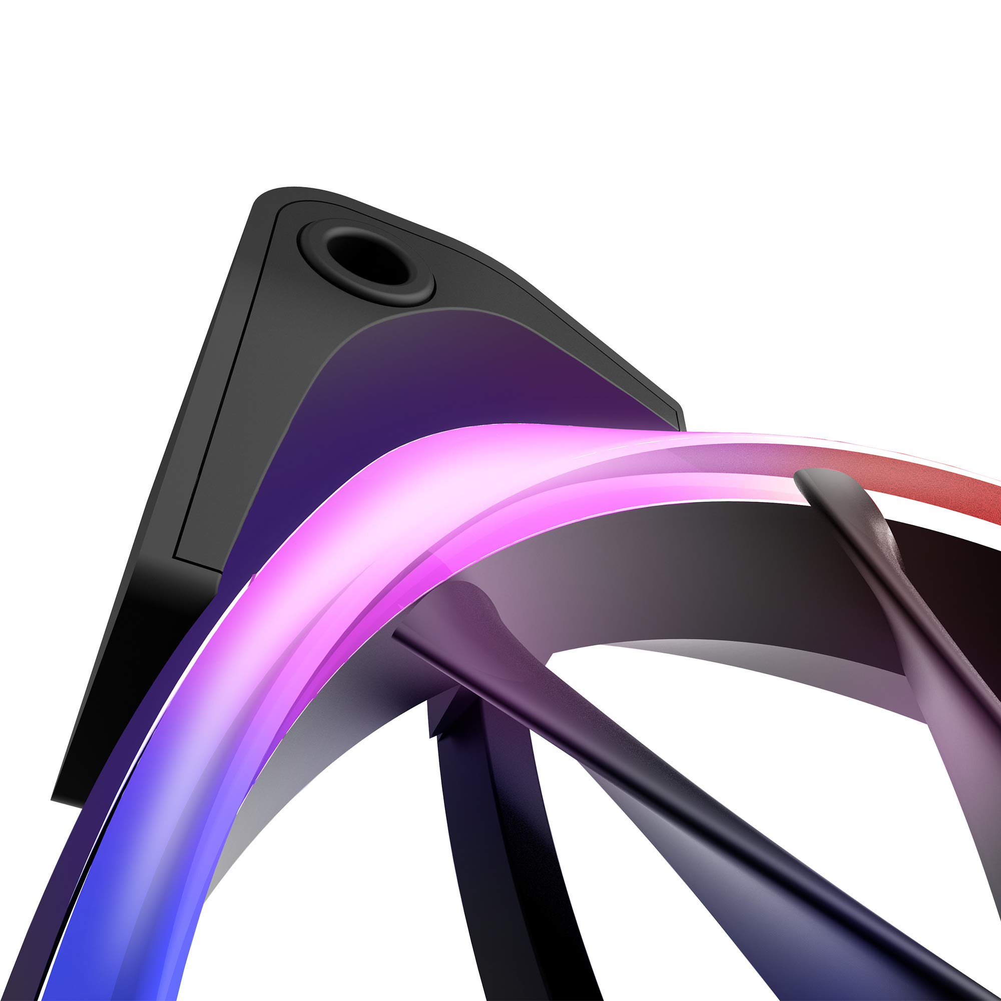 NZXT AER RGB 2 - 3-Pack of 120mm RGB PWM Fans with Hue 2 Lighting Controller - Advanced Lighting Customizations - LED RGB PWM Fans - Winglet Tips - Fluid Dynamic Bearing -  PC Case Fan by NZXT (Image #5)
