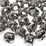 Jumbo Silver Jingle Bells,(24 pieces)
