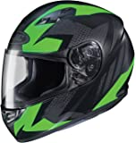 HJC Helmets CS-R3 Unisex-Adult Full Face Treague Motorcycle Helmet (Black/Green, X-Large)