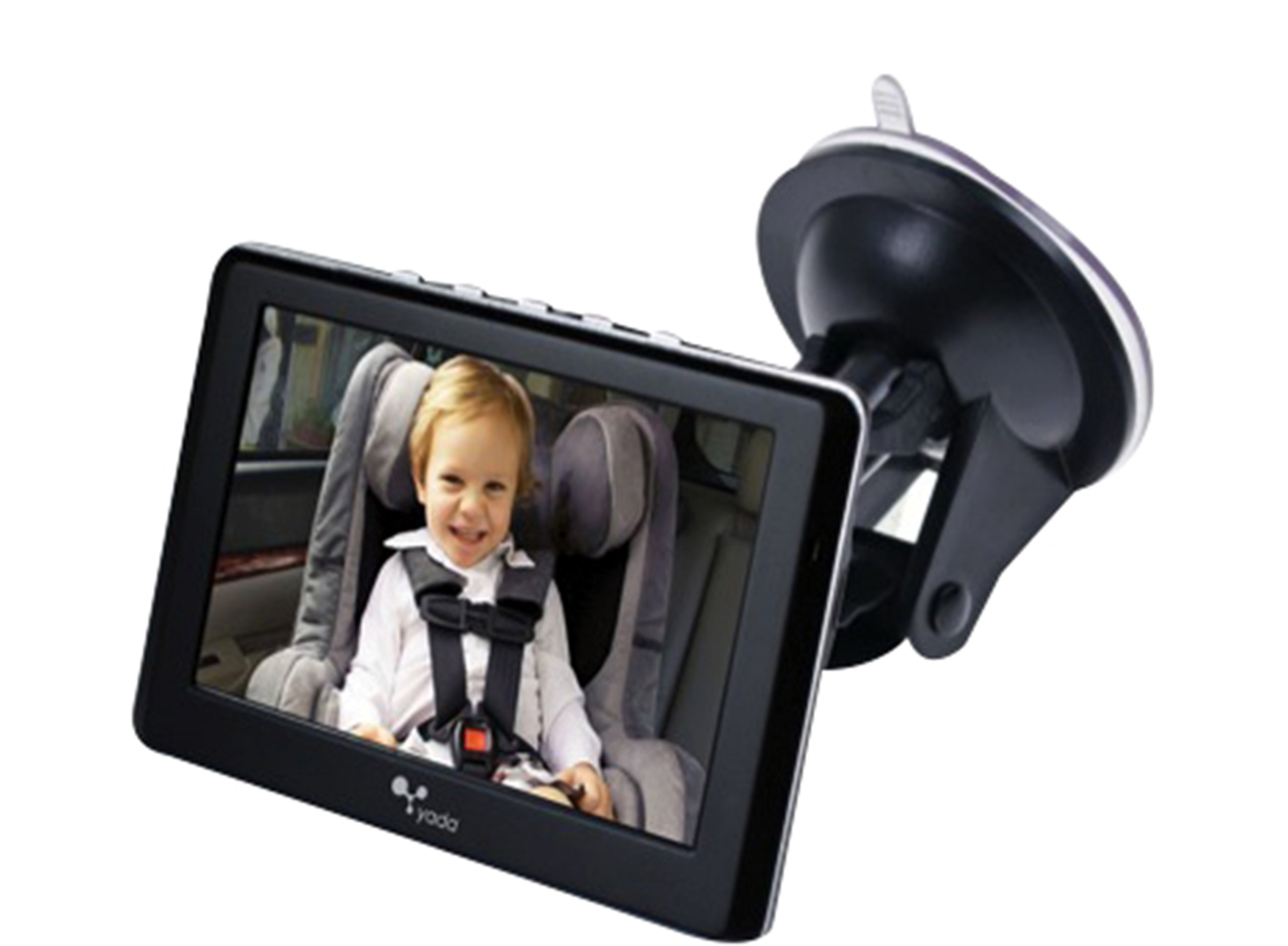 Yada BT53901F-2 4.3 Inch Tiny Traveler Digital Wireless Baby Matte Black | 4.3'' Monitor | Car Truck SUV by Yada