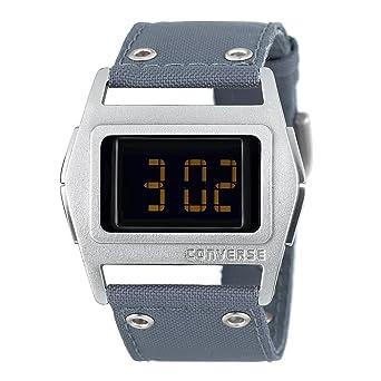 Converse VR005-075 - Reloj digital de cuarzo para hombre con correa de tela, color gris: Amazon.es: Relojes