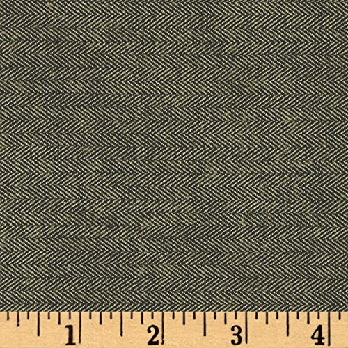 Herringbone Flannel Shirt - Kaufman Shetland Flannel Herringbone Basil Fabric By The Yard