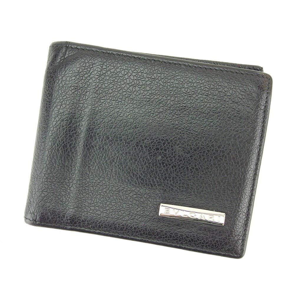 (ブルガリ) Bvlgari 二つ折り 札入れ 二つ折り 財布 ブラック レディース メンズ T8804   B07KLVLBNB