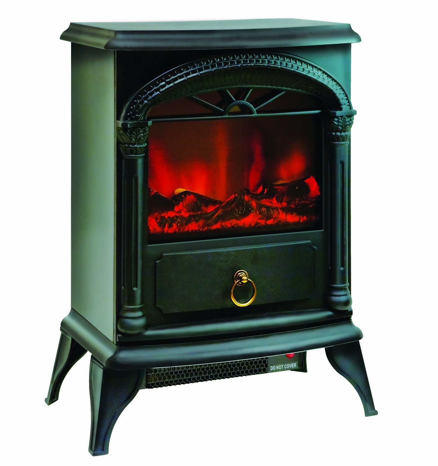 "Amazon.com: Comfort Zone Electric ""Stove Style"" Fireplace Heater: Home & Kitchen"