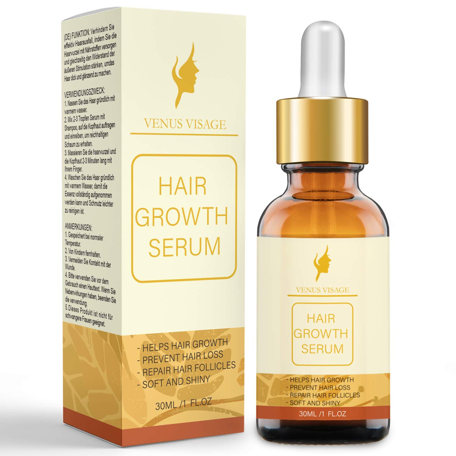 Hair Growth Oil Hair Growth Serum for Thicker Longer Fuller Healthier Hair, Prevent Hair Loss & Thinning, All Natural Vitamin Rich Treatment, Women & Men, All Hair Types