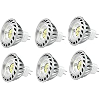 CYLED 6W Mr16 Led Lamps, 50W Halogen Lamp Equivalent, 420Lm, Warm White, 3000K, 60 Beam Angle, Led Spot Light Bulbs,Pack of 6 Units