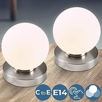 ChambreTableAbat Sphérique Lampe IntensitésE14Avec TouchDesignÀ De Éclairage 3 En Fonction L'aspect Chevet Tactile Jour 1JlFKTc