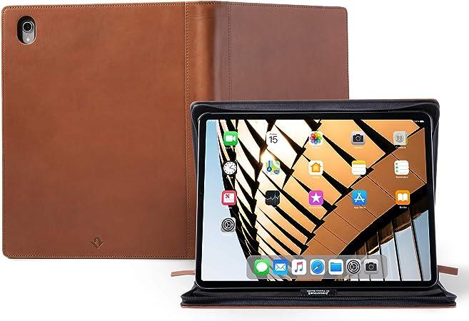 Twelve South Journal - Funda de Piel para iPad Pro de 12,9 Pulgadas (Gen 3) y Caballete con lápiz, documento y Teclado para iPad Pro y Apple Pencil