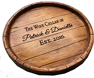 product image for Piazza Pisano Lazy Susan Wine Barrel Personalized