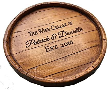 Amazoncom Piazza Pisano Lazy Susan Wine Barrel Personalized