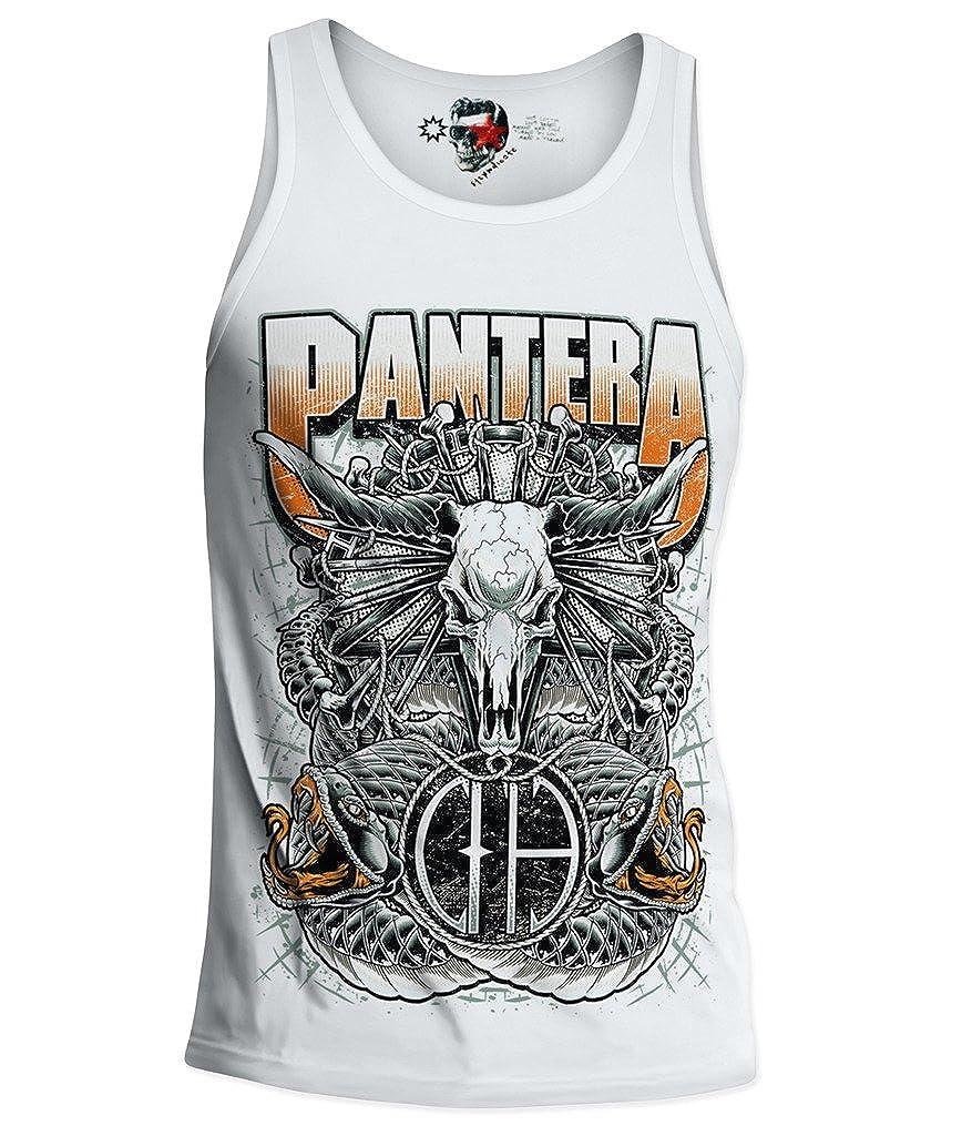 e1syndi Cate Pantera D/ébardeur pour Homme Metallica Metal Rock Dimebag Darrel S//M//L//XL