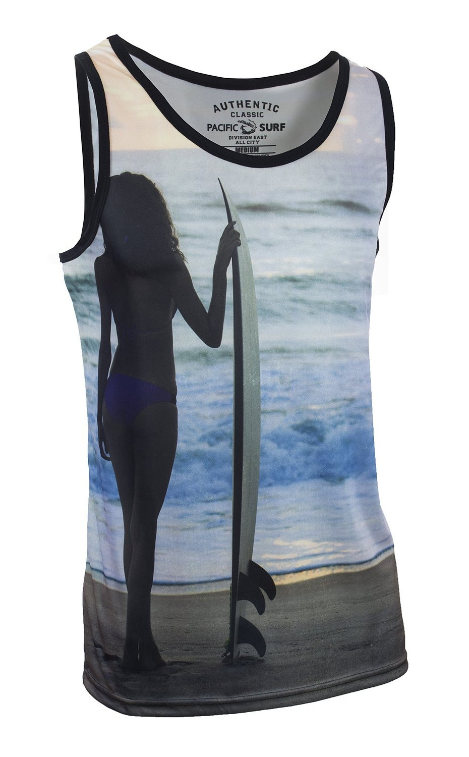 Pacific Surf Men's Tank Slim Fit Muscle Shirt Surf Girl M by Pacific Surf